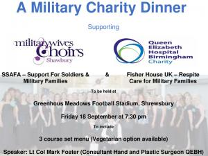 A Military Charity Dinner @ Greenhous Meadows Football Stadium, Shrewsbury 7.30pm
