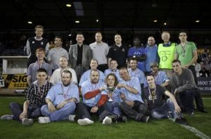 Aug 2011 Tommy McLafferty Football Tournament for the Homeless - Awards at Abbey Stadium, Cambridge