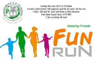 Friends of Kinnerley School Fun Run 9.45am SY10 8BT