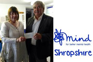 Shropshire Mind Receives Donation from the Street Collection