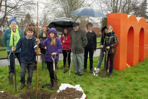 Tree Planting at The Marches School