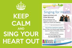 Year of Health & Wellbeing Event @ Oswestry Library - Singing for Health