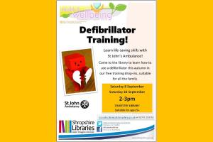 Year of Health & Wellbeing Event @ Oswestry Library - Defibrillator Training with St John Ambulance