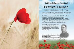 Launch of Wilfred Owen Festival as Supported by the Mary Hignett Bequest