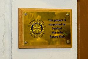 New Plaque commemorating Martello Rotary