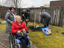 Tree Planting in Care Home Gardens