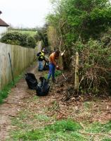 Rotary and Interact Clubs tidy Llantwit Major