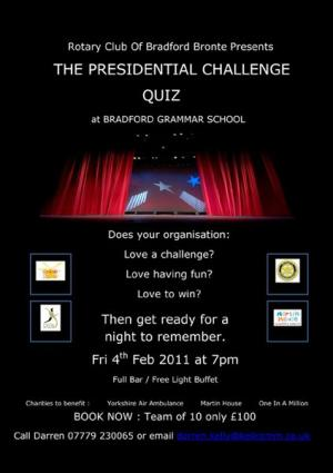 The Presidential Challenge Quiz