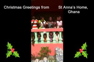 Christmas Greetings from St Anna's Home, Ghana