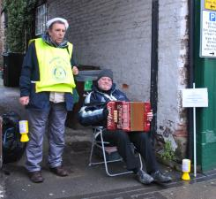 Christmas collection for local charities