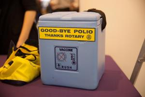 Vaccination programme supported by Rotary for thirty years nears success in eliminating polio.