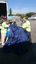 Collecting Tents & Sleeping bags for Carlisle Key