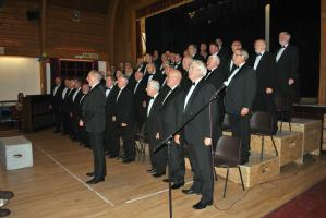 Treorchy Male Choir at the Knighton Community Centre