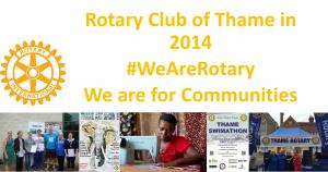 Rotary Club of Thame in 2014