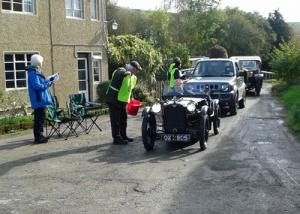 VSCC car rally parking at Cwm Whitton