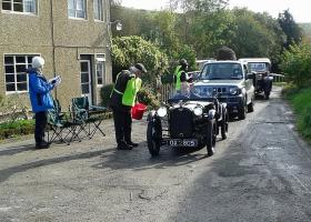 VSCC car rally - Stewards for parking