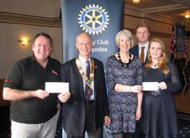 Presentations to ABF The Soldiers Charity and Tayside & Fife Cystic Fibrosis