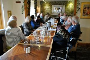 Lunch meeting at the Castle Inn, Wigmore