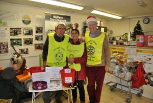 Christmas collection in Knighton and Presteigne for local charities