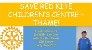 "Saving Red Kite Children""™s Centre: Erroll""™s Sky Dive"
