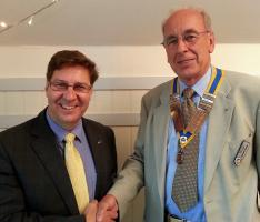 PRESIDENTIAL HAND-OVER AT CHRISTCHURCH ROTARY CLUB 2016