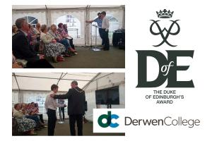 Presentation of Derwen Duke of Edinburgh's Award 2016