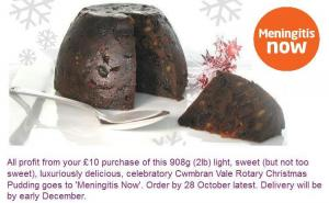 2017 Christmas Pudding Appeal for 'Meningitis Now'