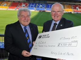 2016 Cheque presentation to the Scottish Charity Air Ambulance