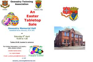 Oswestry Town Twinning Table Top Sale - Memorial Hall, Oswestry