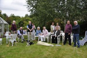 Afternoon tea and croquet at the Morgan's home