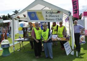 Rotary awareness stall at Knighton Show