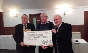 Cheque Presentation to Parkinsons UK