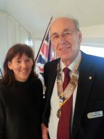 Jo Parker speaks at Christchurch Rotary meeting