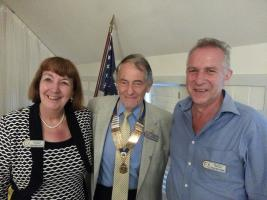 TWO NEW MEMBERS AT CHRISTCHURCH ROTARY CLUB