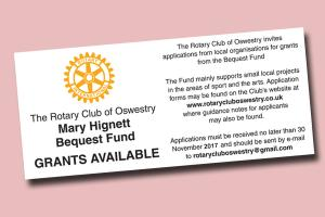 Invitation for Grant Applications to the Mary Hignett Fund