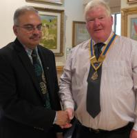 2017 06  A new member for the Rotary Club of Midhurst & Petworth