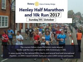 Henley Half Marathon & 10K Run - 8th October 2017