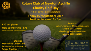 Rotary Club of Newton Aycliffe Charity Golf Event