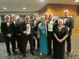 Wigan Rotary President Gwyneth Millard along with distinguished guests