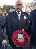 Wreath laying at Cenotaph