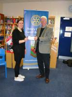 £500 cheque for the 5C's Charity