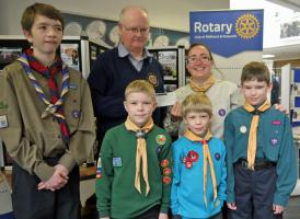 2018 04 Donation to Scouts