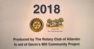 Allander Rotary 2018 Calendar now on sale.