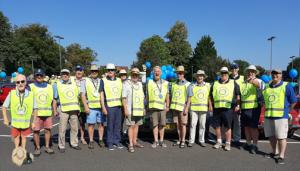 Rotarian marshalls for MADhurst carnival day