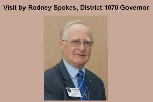 Vist by Rodney Spokes, District 1070 Governor & Food Bank Collection