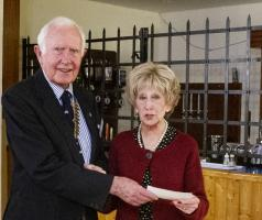 Rotary Club donates towards the 2019 'Axminster Christmas together 'event.