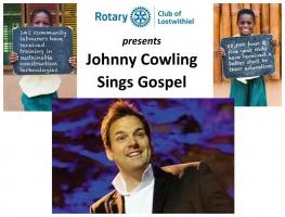 Lostwithiel Rotary hosts the very popular 'Johnny Cowling Sings Gospel'. Profits to the Lostwithiel based Sabre Education Trust, a leading charity working in Ghana providing kindergarten schools and education. Also learn about the Trust's work.