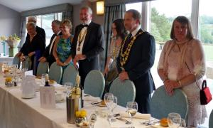 The Rotary Club of Lostwithiel celebrated Graham Holland's year as Club President with a dinner at the Lanhydrock Hotel on Saturday 1st June 2019