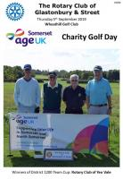 Charity Golf Day & District 1200 Team Golf Competition