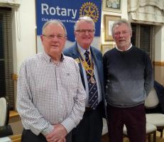 Chairman Michael Balmforth & Vice Harvey Tordoff from Midhurst Society with Pres Peter